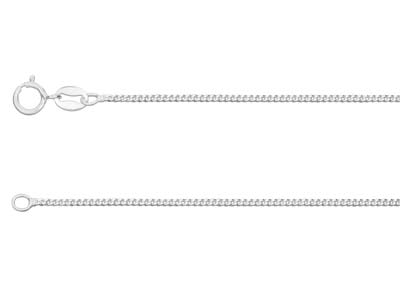 Sterling Silver 1.2mm Diamond Cut  Curb Chain 1845cm Unhallmarked