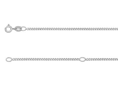 Sterling Silver 1.5mm Diamond Cut  Extendable Curb Chain              16-1840-45cm Unhallmarked