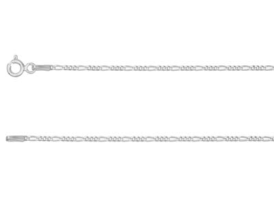Sterling Silver 1.0mm Diamond Cut  31 Figaro Chain 1640cm          Unhallmarked