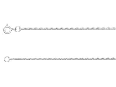 Sterling Silver 1.5mm Barleycorn   Chain 1640cm Unhallmarked