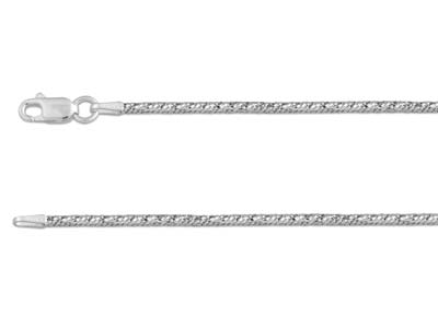 Sterling Silver 1.8mm Diamond Cut  Fancy Snake Chain 1845cm         Hallmarked