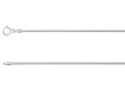 Sterling Silver 1.2mm Diamond Cut  Round Snake Chain 1845cm         Unhallmarked