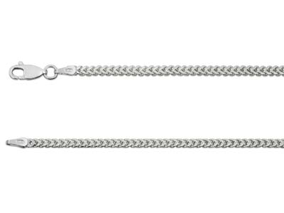 Sterling Silver 2.4mm Franco Chain 1845cm Hallmarked