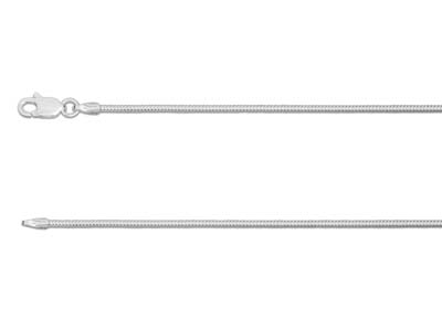 Sterling Silver 1.2mm Round Snake  Chain 1845cm Unhallmarked