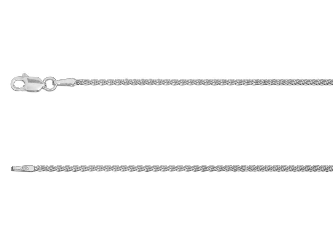 Sterling Silver 1.5mm Spiga Necklet 18
