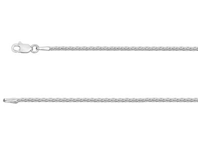 Sterling Silver 1.5mm Diamond Cut  Spiga Chain 2050cm Unhallmarked
