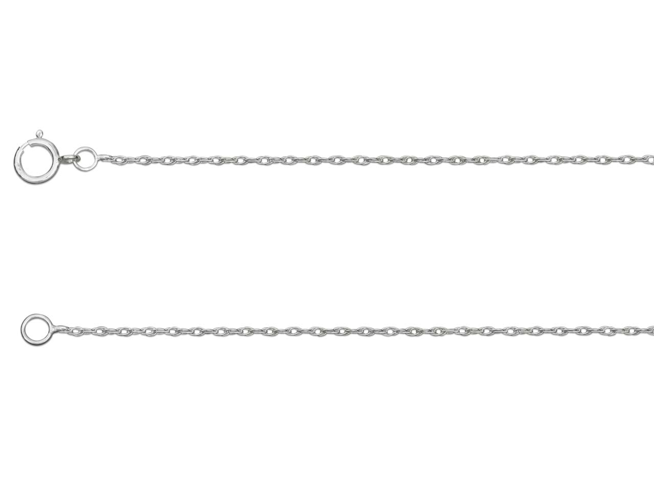 Sterling Silver 1.0mm Rope Chain   16