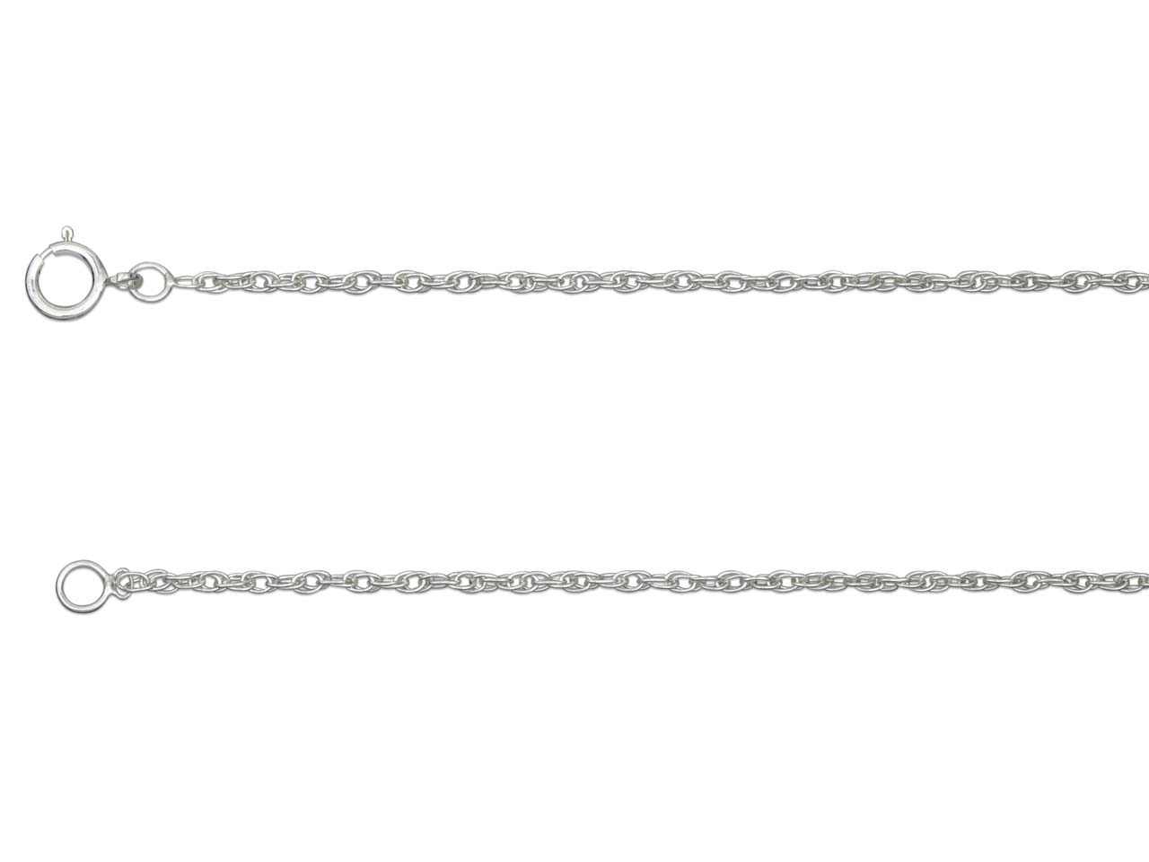 Sterling Silver 25 Rope 16