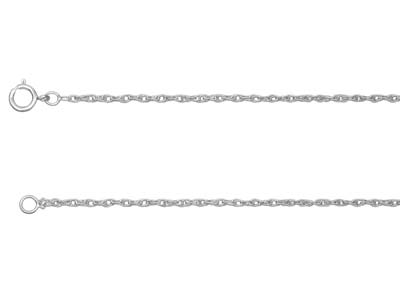 Sterling Silver 1.5mm Rope Chain   1845cm Unhallmarked
