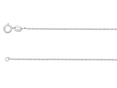 Sterling Silver 1.0mm Rope Chain   1845cm Unhallmarked