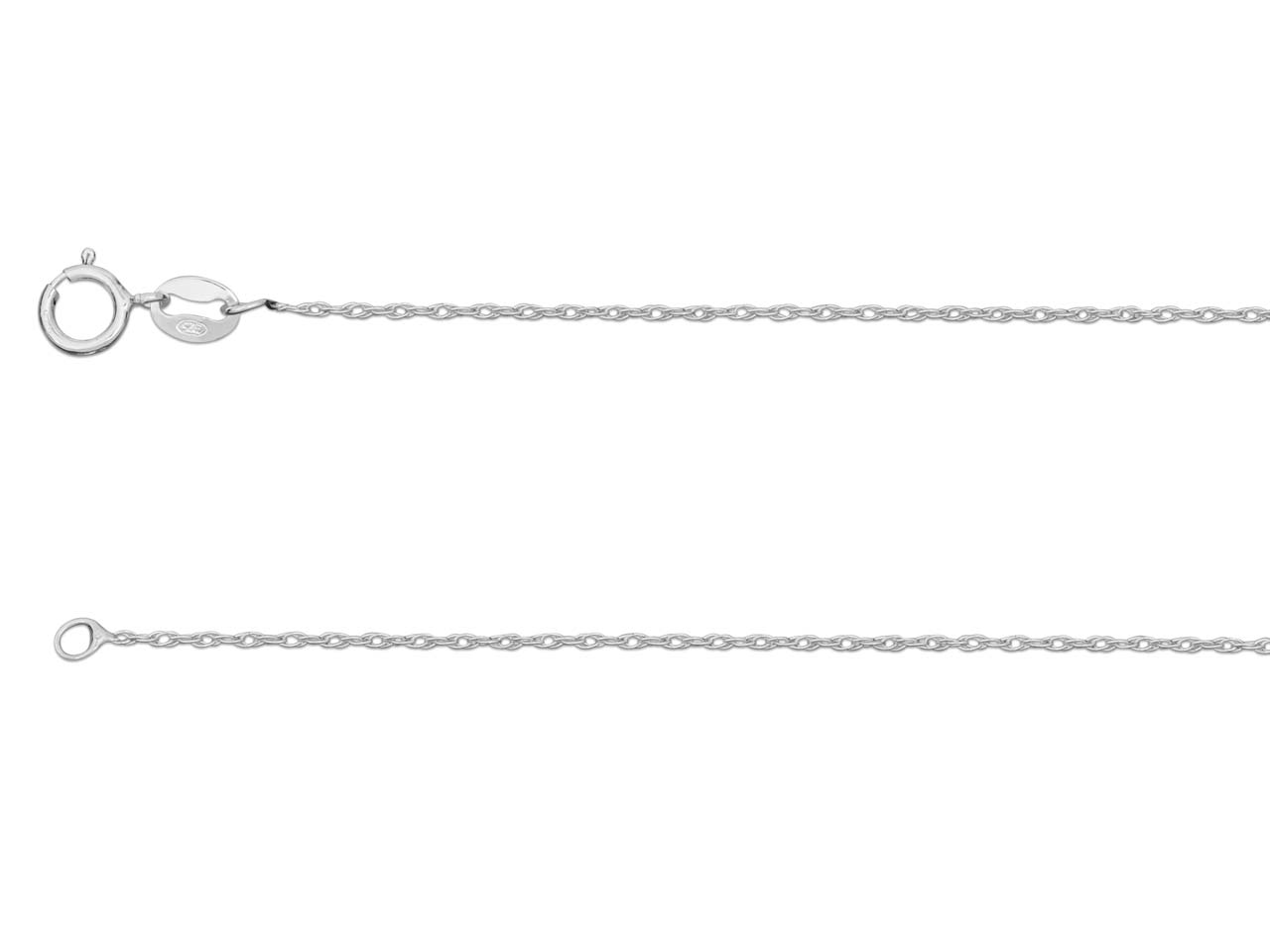Sterling Silver 1mm Rope 18