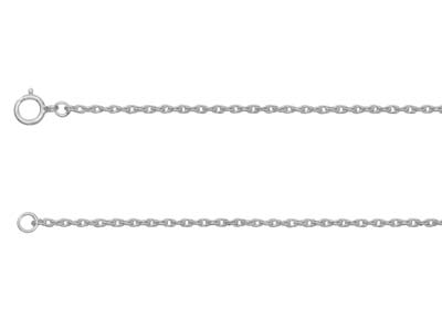 Sterling Silver 1.2mm Rope Chain   1845cm Unhallmarked