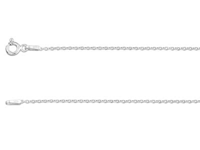 Sterling Silver 1.2mm Diamond Cut  Hammered Trace Chain 1845cm      Unhallmarked