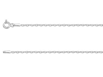 Sterling Silver 1.5mm Diamond Cut  Hammered Trace Chain 2255cm      Unhallmarked