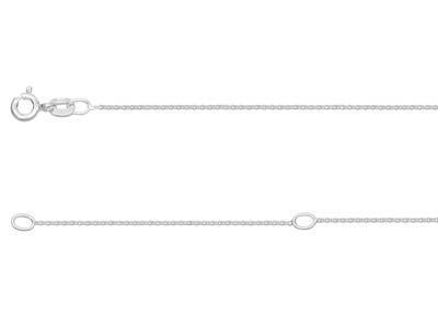 Sterling Silver 0.9mm Extendable    Hammered Trace Chain 16-1840-45cm Unhallmarked