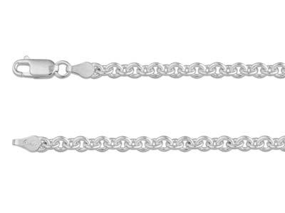 Sterling Silver 3.9mm Trace Chain  2255cm Hallmarked