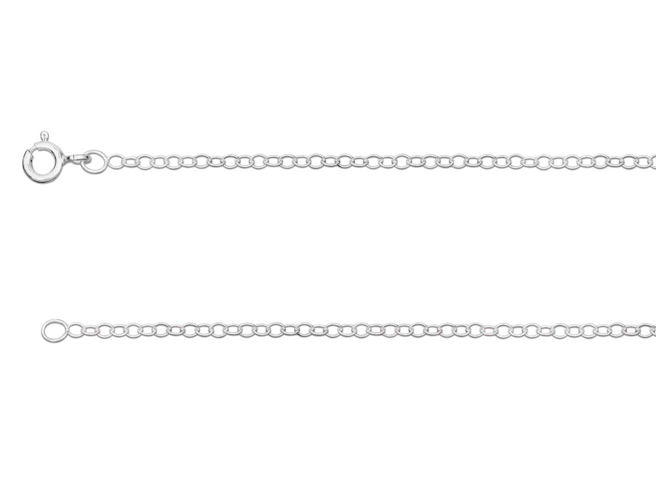 Sterling Silver 1.7mm Trace Chain  16