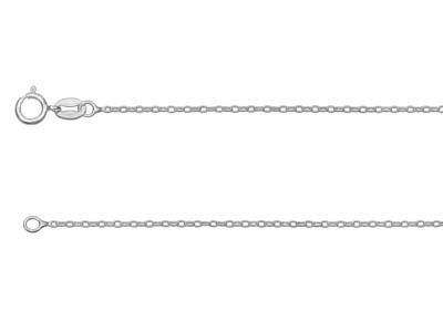 Sterling Silver 1.3mm Trace Chain  2255cm Unhallmarked