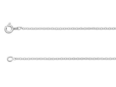 Sterling Silver 1.6mm Trace Chain  1845cm Unhallmarked