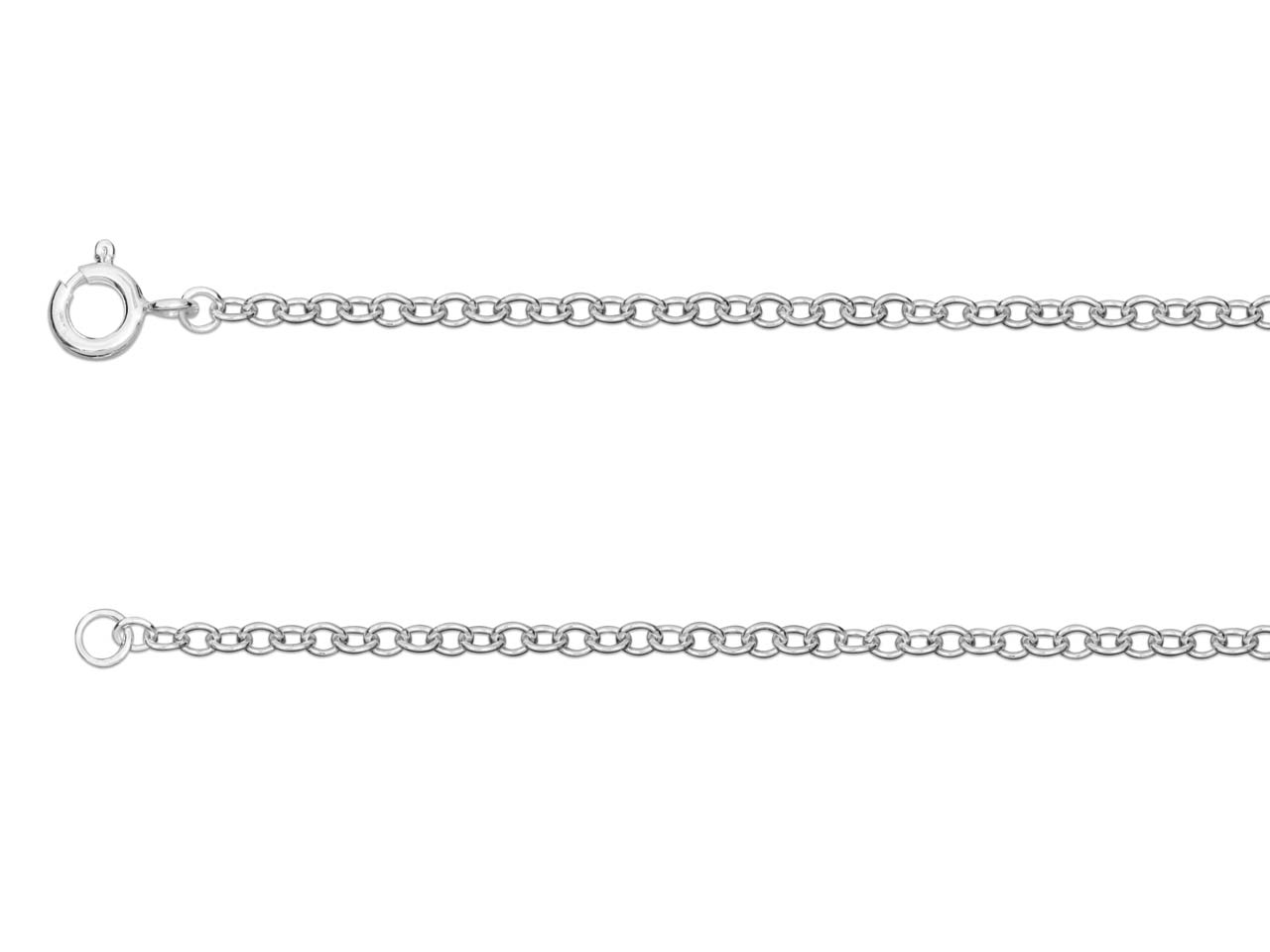 Sterling Silver 2.3mm Trace Chain  16