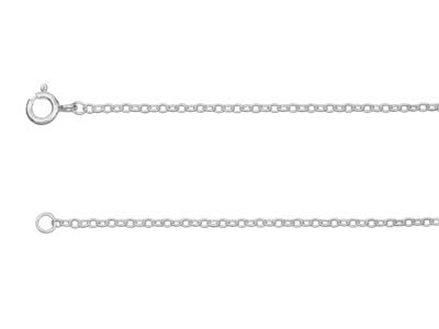 Sterling Silver 1.9mm Trace Chain  1845cm Unhallmarked