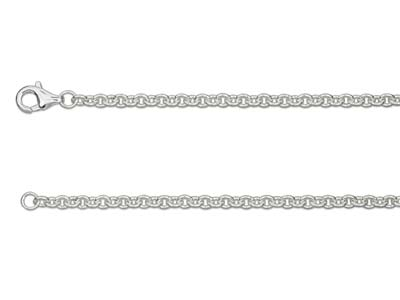 Sterling Silver 3.0mm Cable Chain  1845cm Unhallmarked