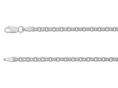 Sterling Silver 3.9mm Cable Chain  1845cm Hallmarked