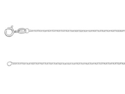 Sterling Silver 1.5mm Diamond Cut  Trace Chain 1845cm Unhallmarked