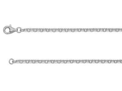 Sterling Silver 2814 Square Diamond Cut Belcher 1845cm Hallmarked