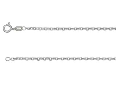 Sterling Silver 2121 Square Diamond Cut Belcher 1640cm Unhallmarked