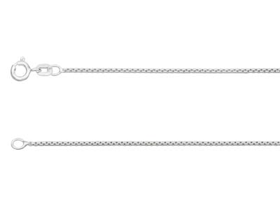 Sterling Silver 1.3mm Rounded Box  Chain 2050cm Unhallmarked