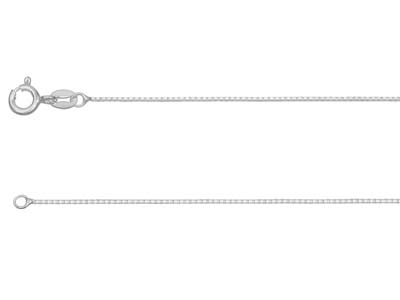 Sterling Silver 0.7mm Diamond Cut  Mirror Box Chain 1845cm          Unhallmarked