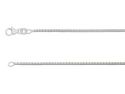 Sterling Silver 1.6mm Rounded Box  Chain 1845cm Unhallmarked