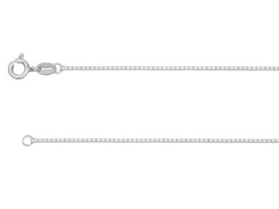 Sterling Silver 0.9mm Diamond Cut  Mirror Box Chain 1845cm          Unhallmarked