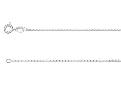 Sterling Silver 1.2mm Diamond Cut  Mirror Box Chain 1845cm          Unhallmarked