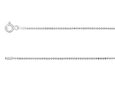Sterling Silver 1.2mm Diamond Cut  Ball Chain 1845cm Unhallmarked