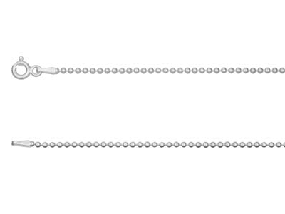 Sterling Silver 1.5mm Ball Chain   1845cm Unhallmarked
