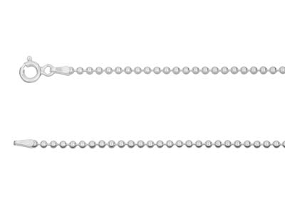 Sterling Silver 2.0mm Ball Chain   1640cm Unhallmarked