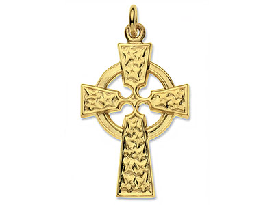 9ct-Yellow-Cross,-Celtic,-No.17----Ha...