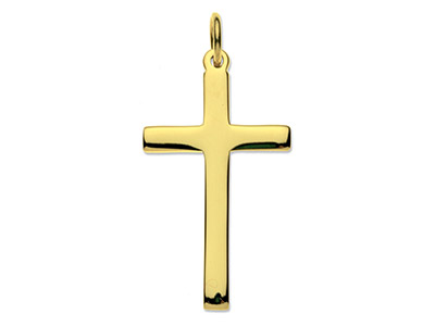9ct-Yellow-Cross,-Medium-Heavy-----La...