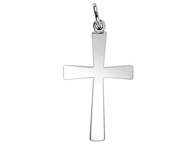 Sterling Silver Plain Cross No.4 1.3mm