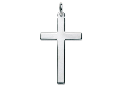 Sterling Silver Latin Plain Cross No.10