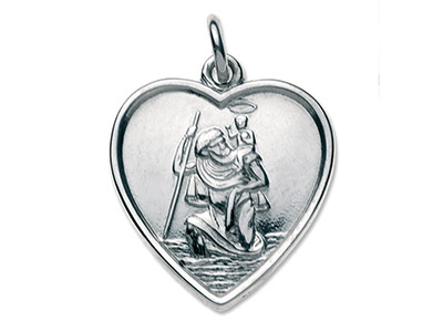 Sterling-Silver-St.-Christopher,---Heart