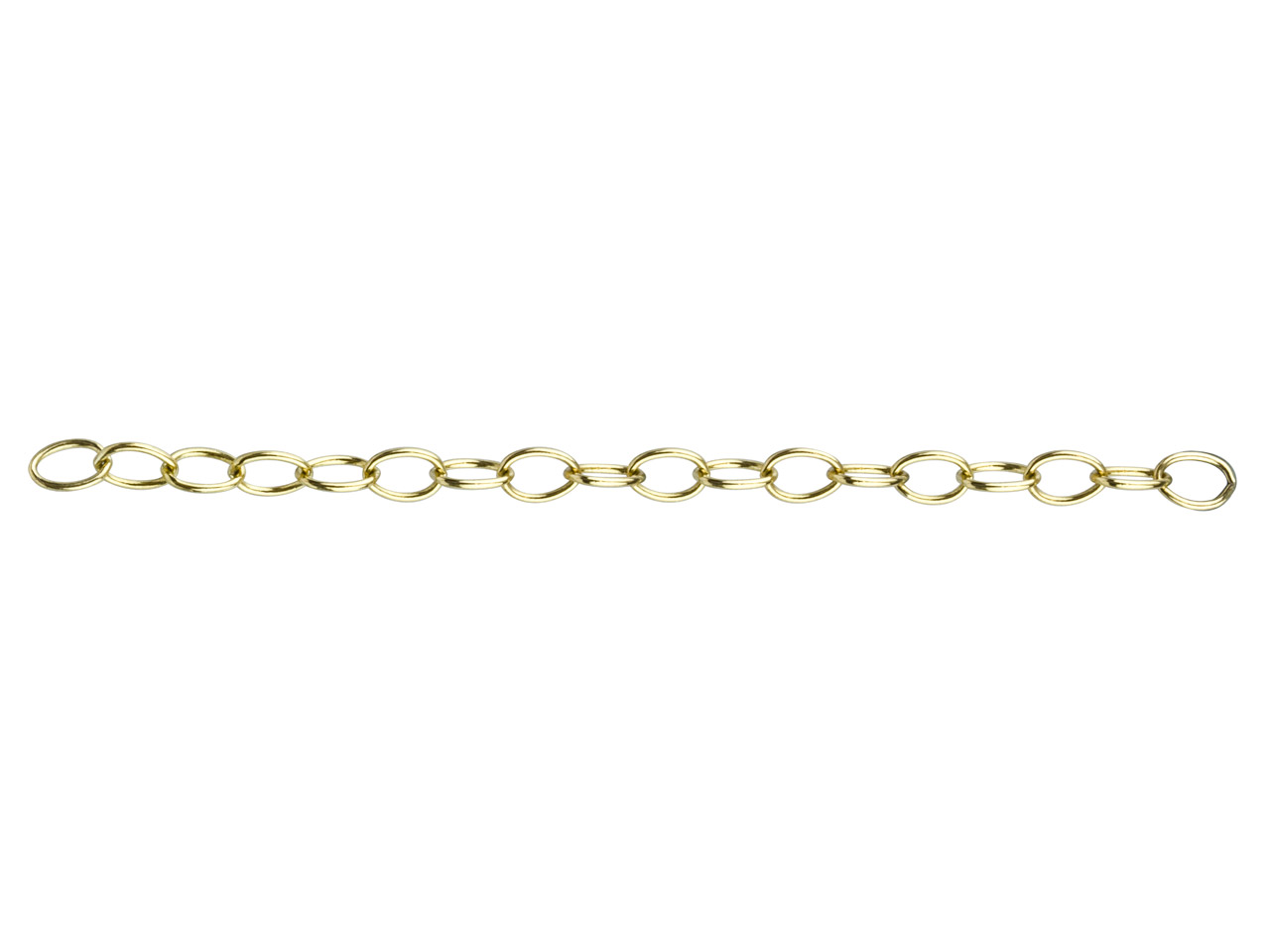 12ct Gold Filled Plain Oval Link,  4.5 X 5.9, Loose