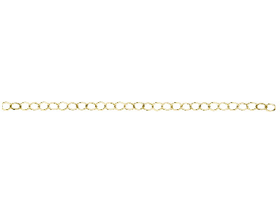 14ct Gold Filled Flat Wire Round Link