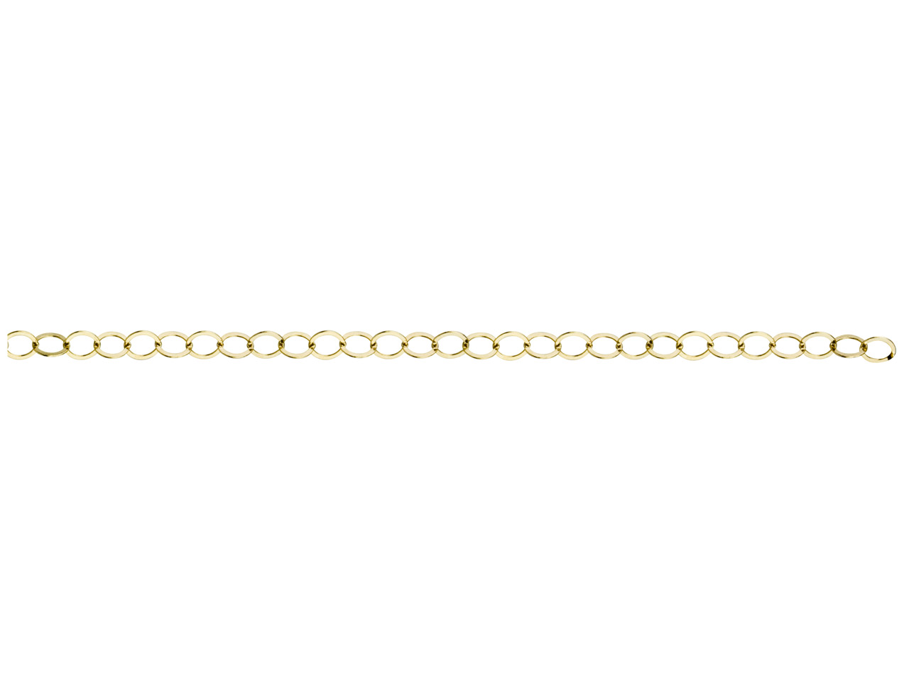 12ct Gold Filled Flat Wire Round   Link, 3.6mm, Loose