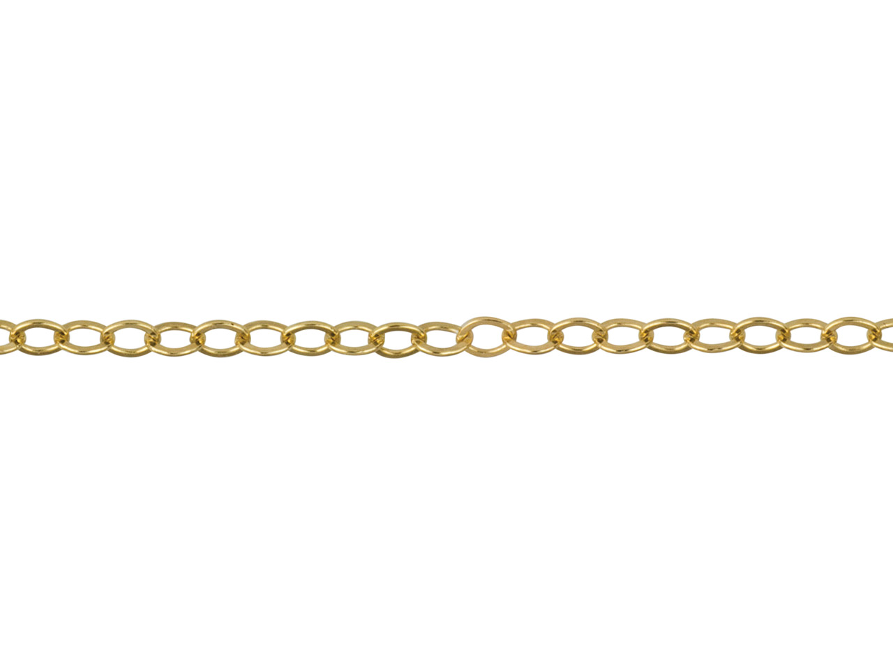 14ct Gold Filled Flat Oval Trace,  1.7x2.3mm, Loose