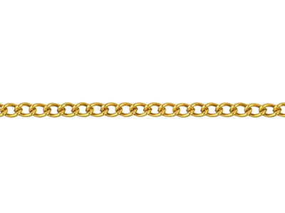12ct Gold Filled 1.3mm Loose Curb  Chain