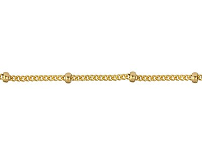 12ct Gold Filled 1.0mm Loose Saturn Chain