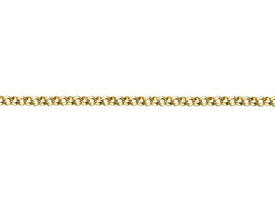 9ct Yellow Gold 1.2mm Loose Belcher Chain